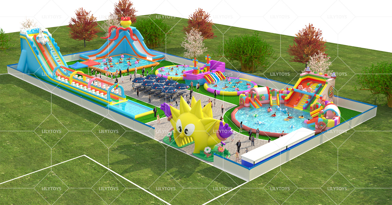 Inflatable ground Water park -16