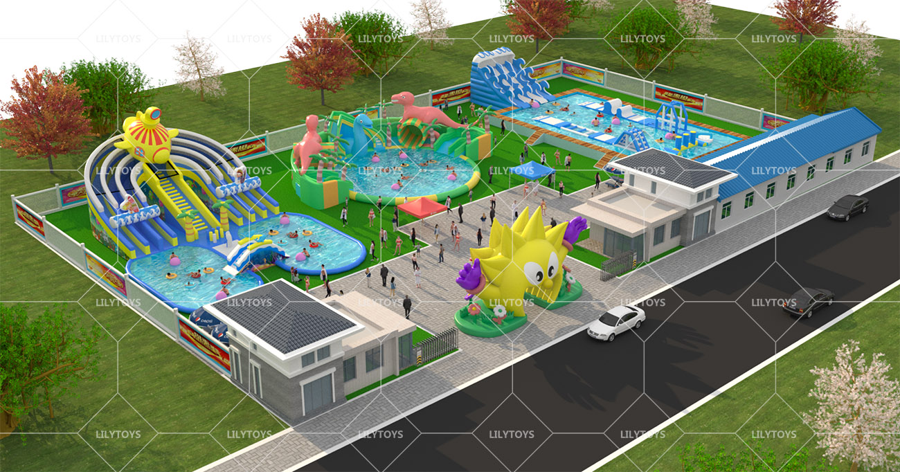 Inflatable ground Water park -17