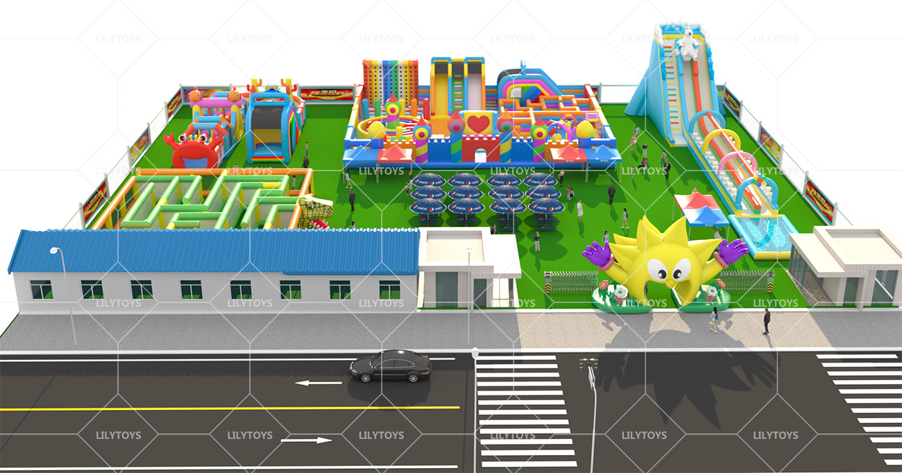 Inflatable ground Water park -18