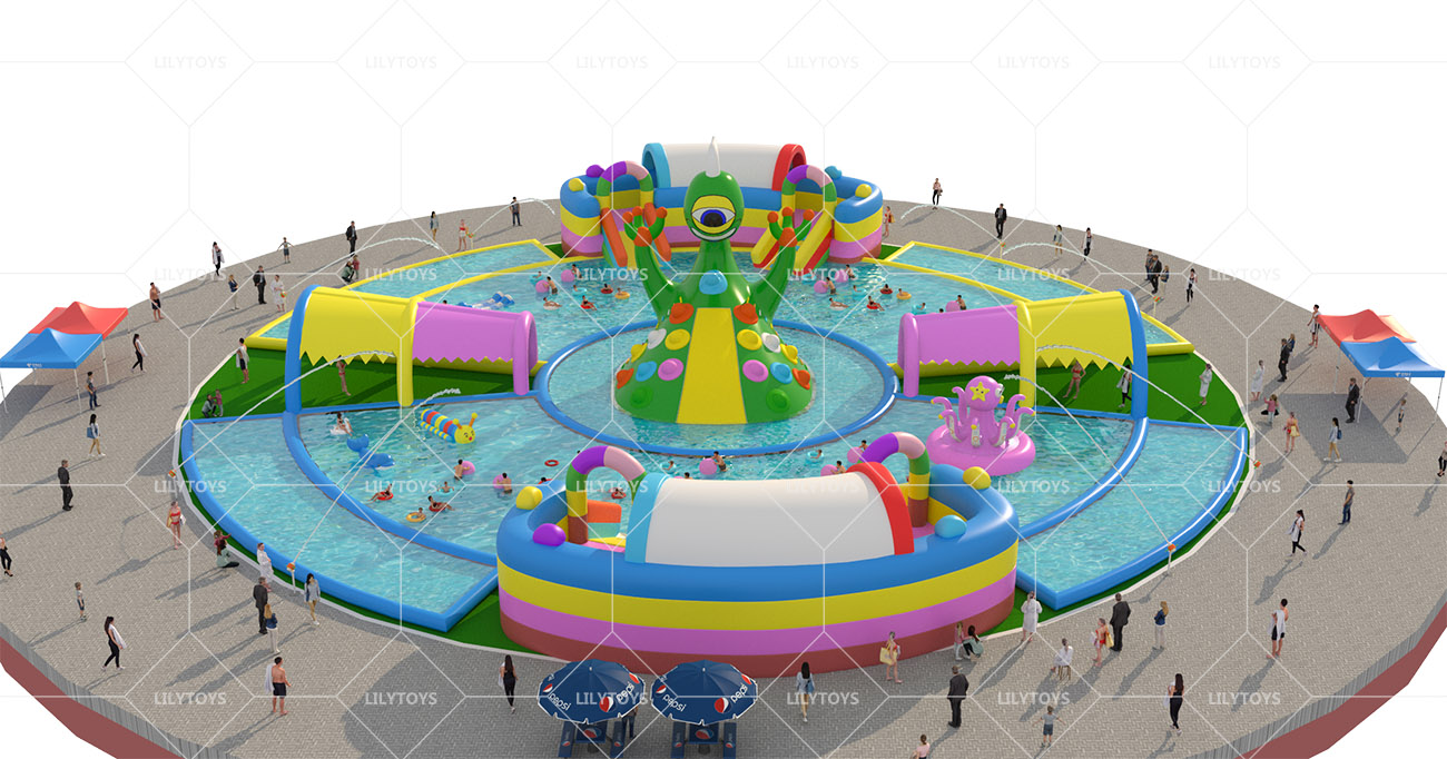 Inflatable ground Water park -19