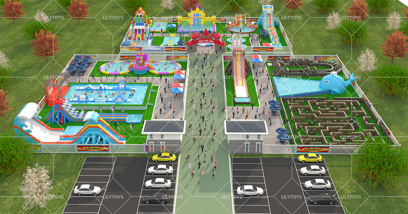 Inflatable ground Water park -21