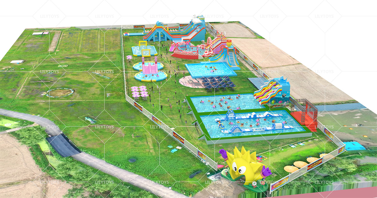Inflatable ground Water park -22