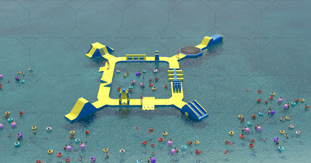 inflatable water park aqua park obstacle for lake
