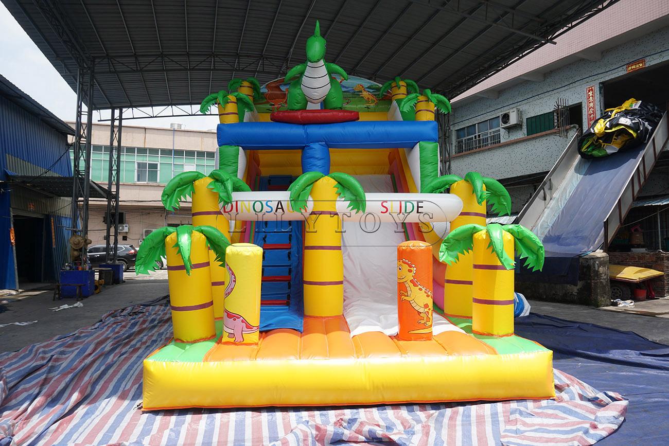 Little Dinosaur Inflatable Dry Slide