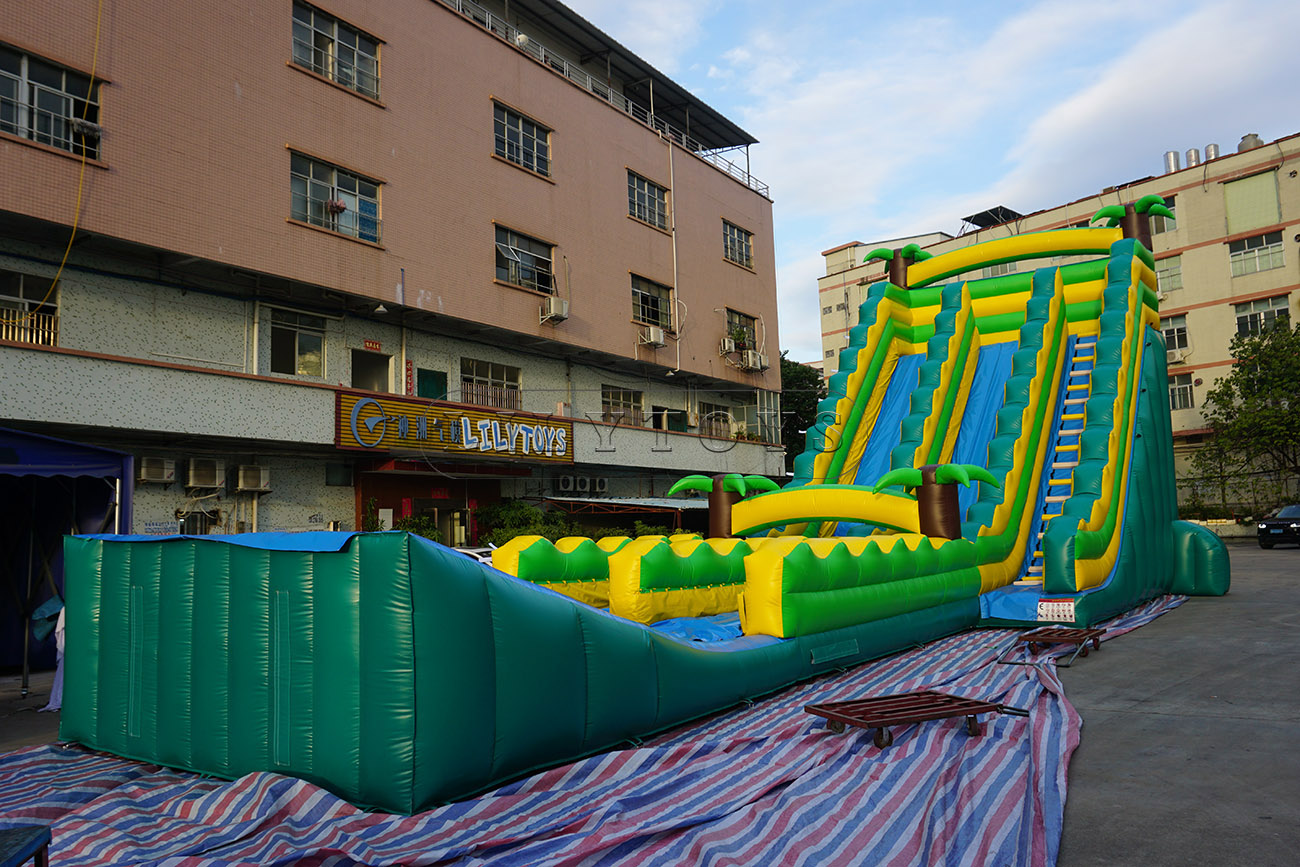 Giant palm tree inflatable water slide for kids and adult