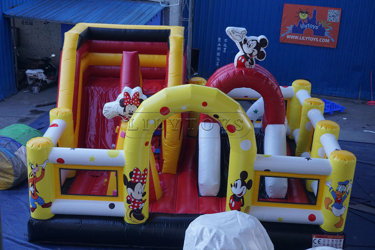 inflatable combo inflatable bounce house with slide for kids