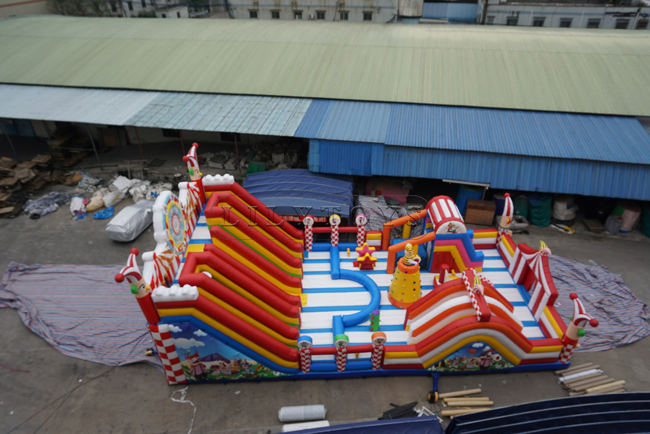 huge inflatable clown slide bounce house for sale