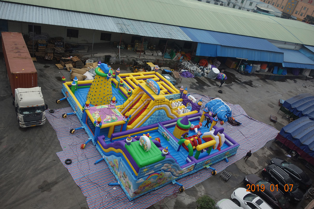 inflatable playground bouncy trampoline