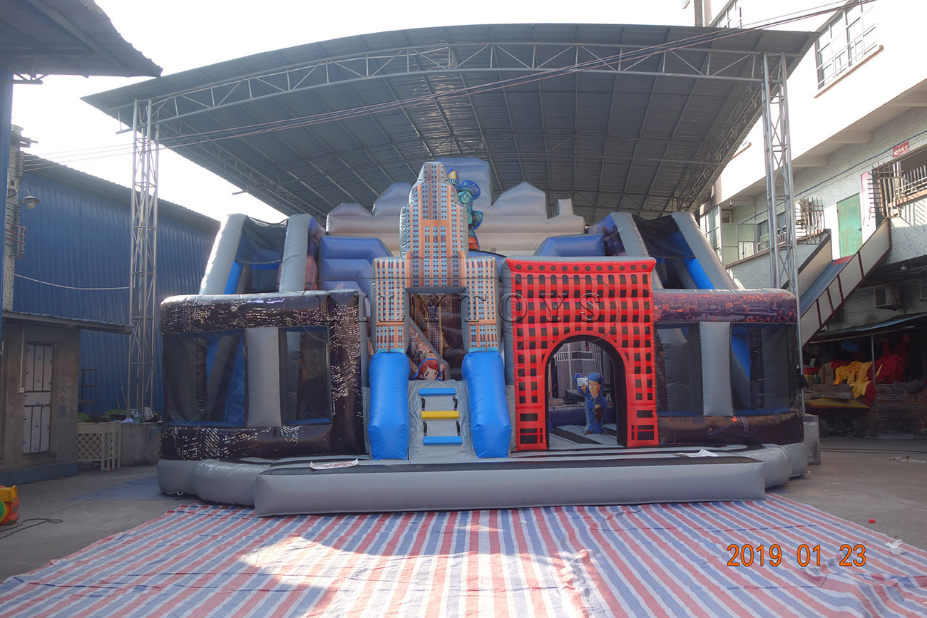 inflatable fun city inflatable playground bouncy trampoline
