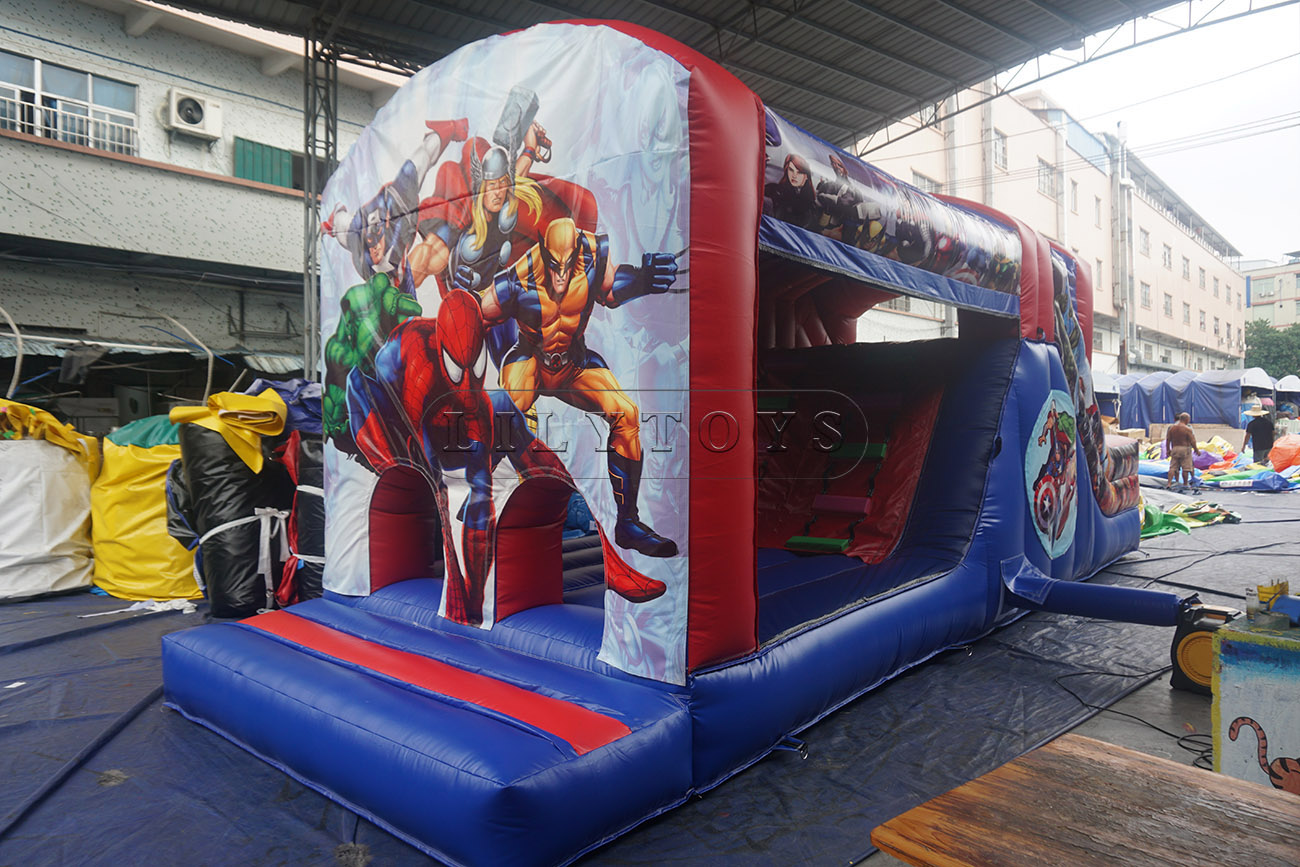 Marvel inmage inflatable bouncy obsracle