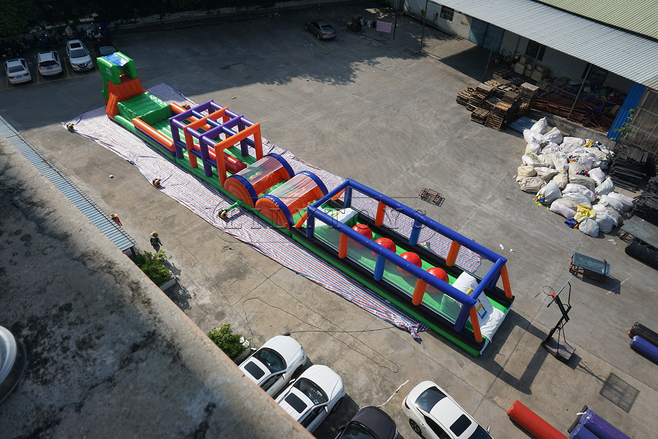 inflatable obstacle course for commercial