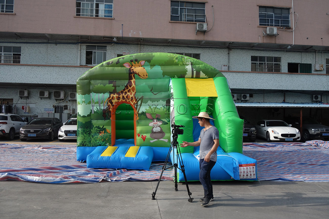 inflatable bounce with slide jeux gonflable inflatable for kids