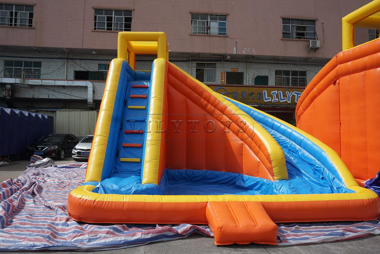 Mini inflatable kids water slide