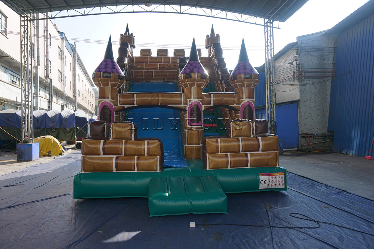 Customized commercial castle inflatable dry slide