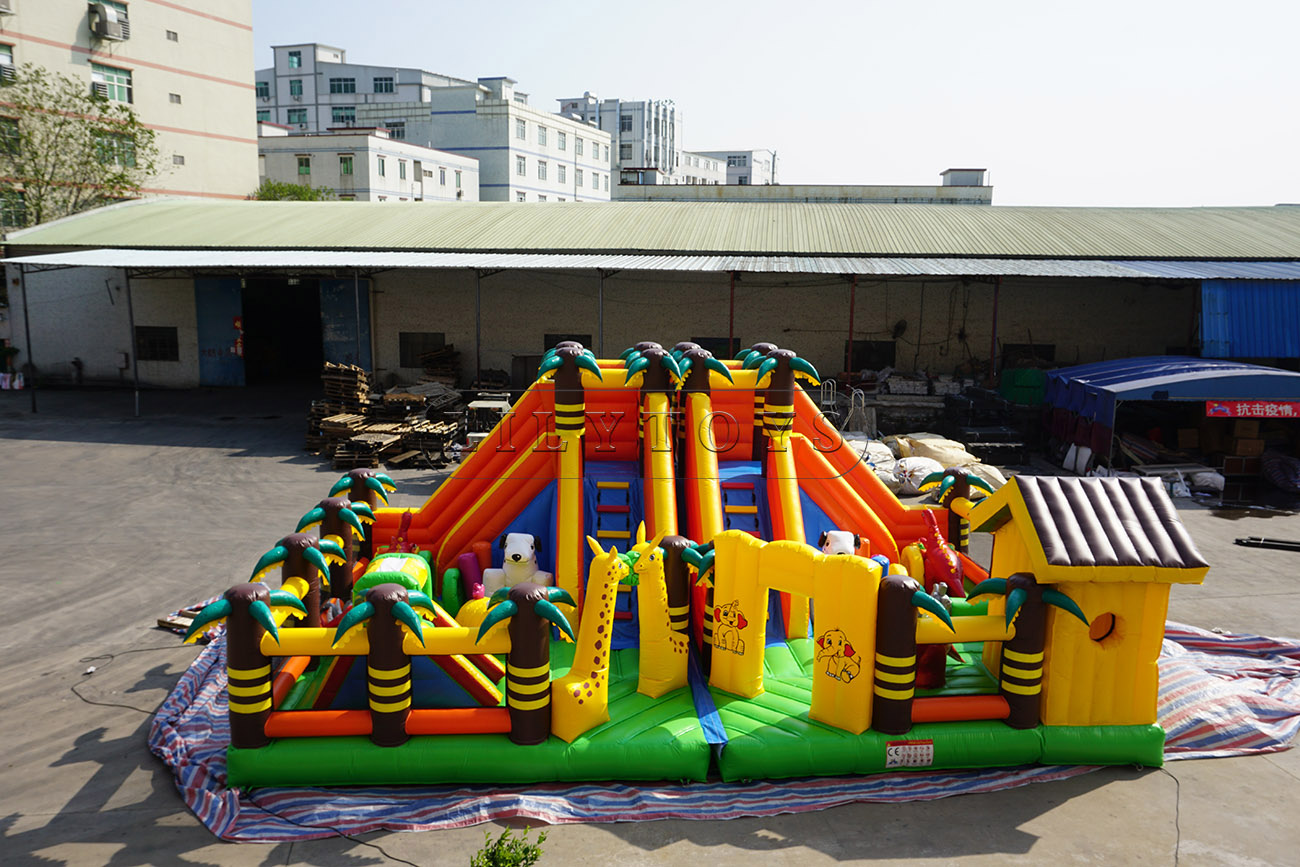 Outdoor inflatable theme park tree and animal fun city