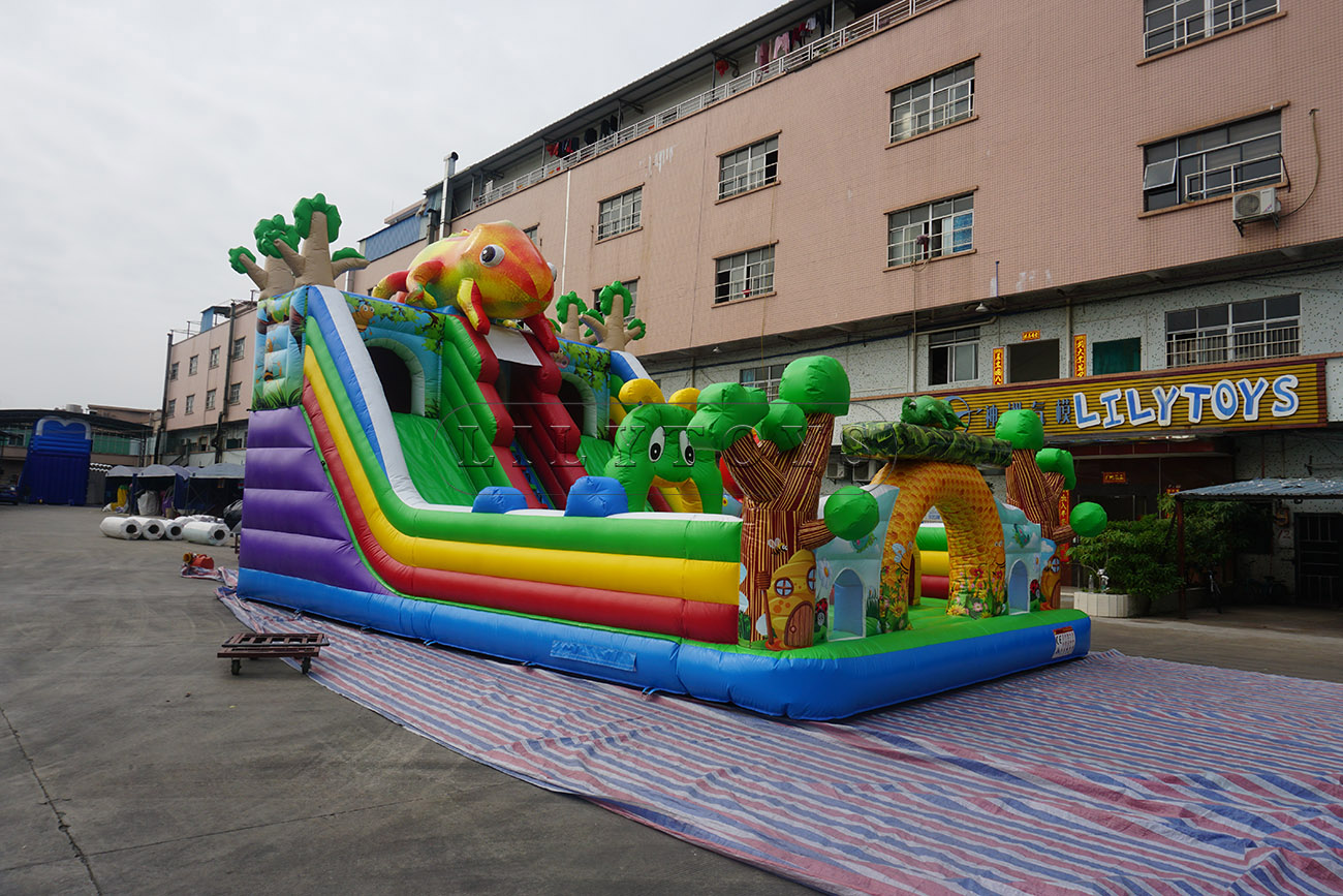 inflatable commercial slide frog tree and insect fun city