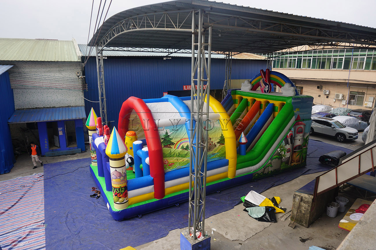 big inflatable playground for sale fun city with tent