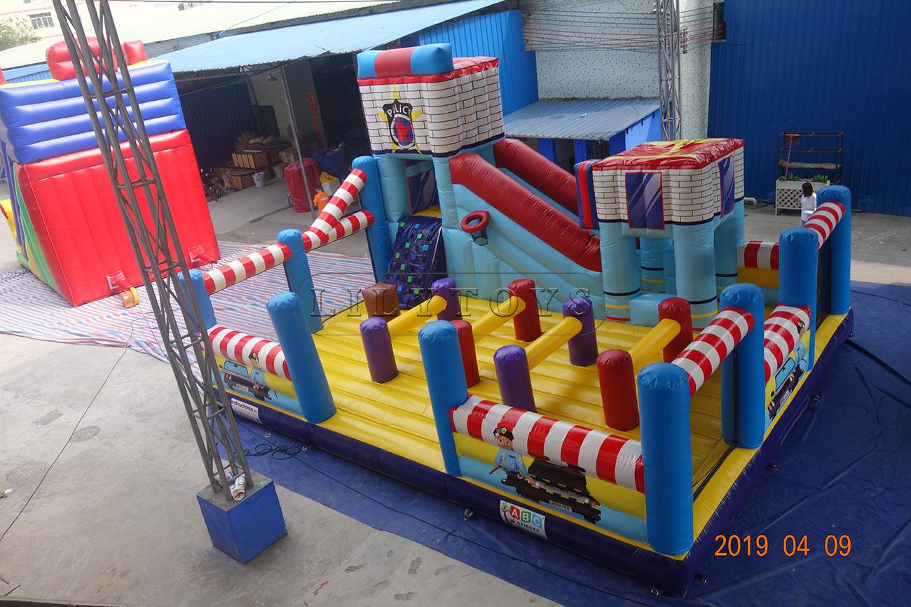 Policeman amusement park games factory outdoor