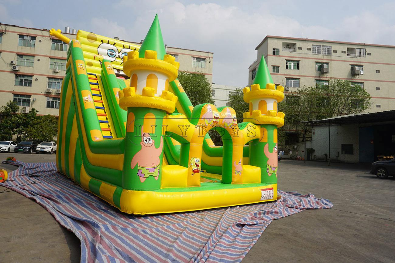 SpongeBob Inflatable Jumping Castle Slide