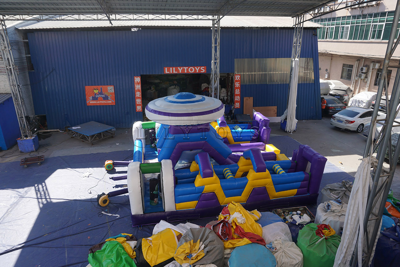 UFO inflatable Obstacle Course playground bouncer