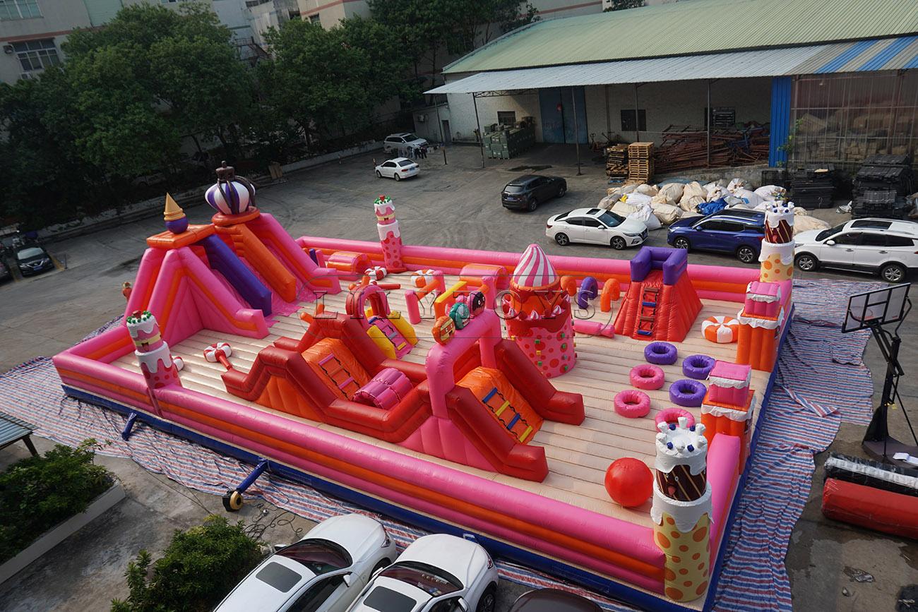 Birthday cake inflatable playground bouncy trampoline