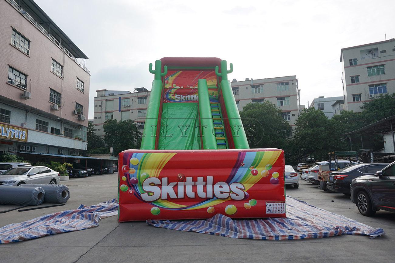 Giant Skittles Inflatable Slide For Sale