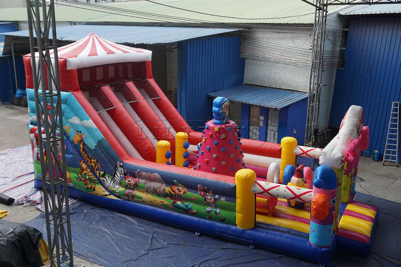 Inflatable sport park for sale clown theme amusement park