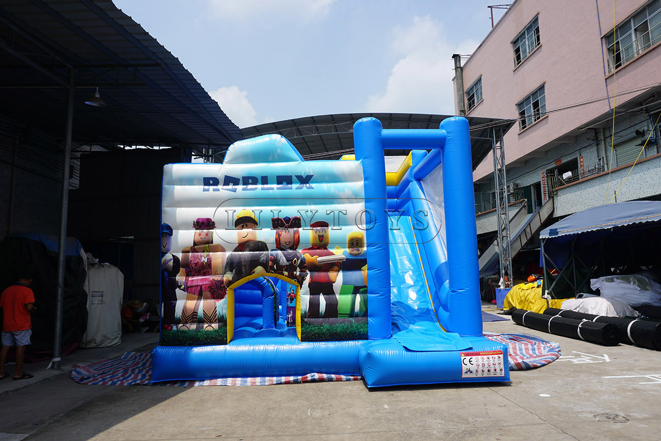 Roblox theme inflatable small bounce house inflatable trampoline bouncer for sale