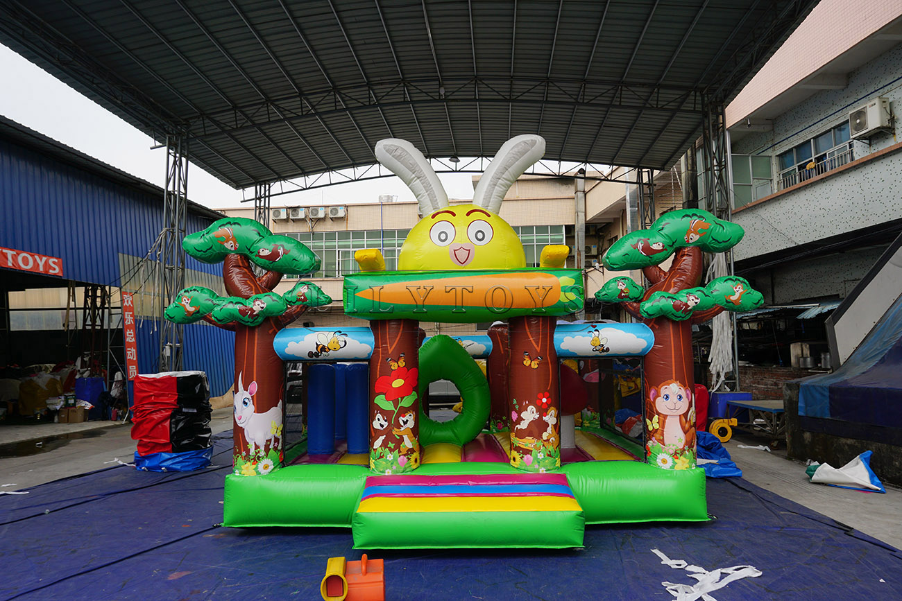 0.55mm pvc inflatable bounce inflatable bounce house commercial for sale