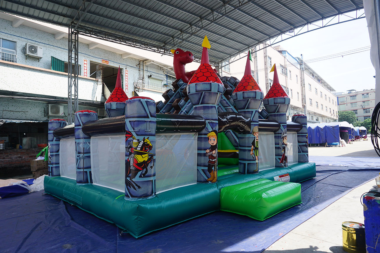 children inflatable park outdoor inflatable theme park