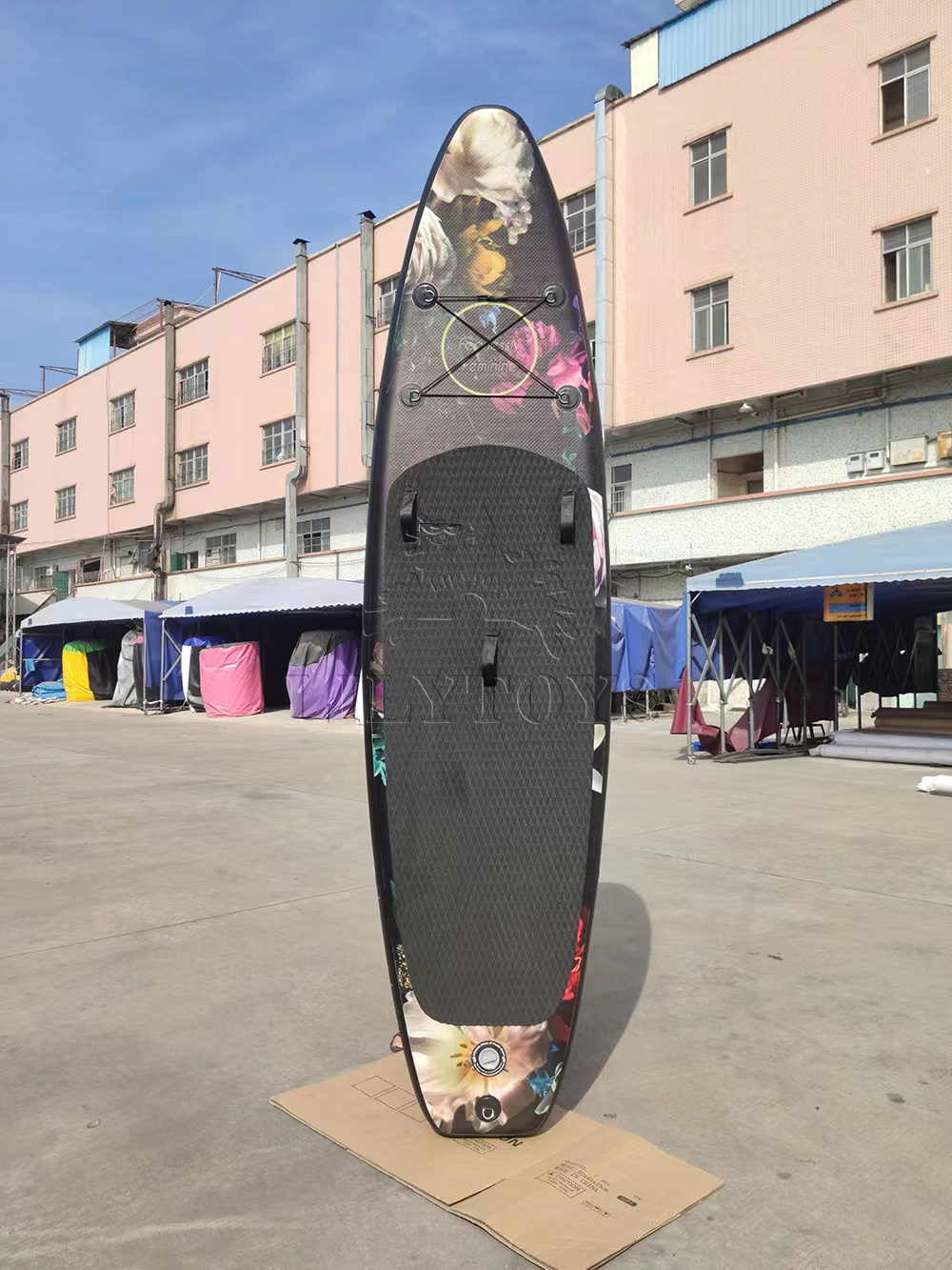 inflatable paddle board with flower printing