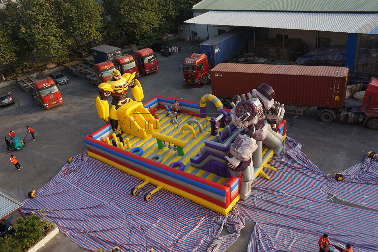 Transformers inflatable fun city giant inflatable playground