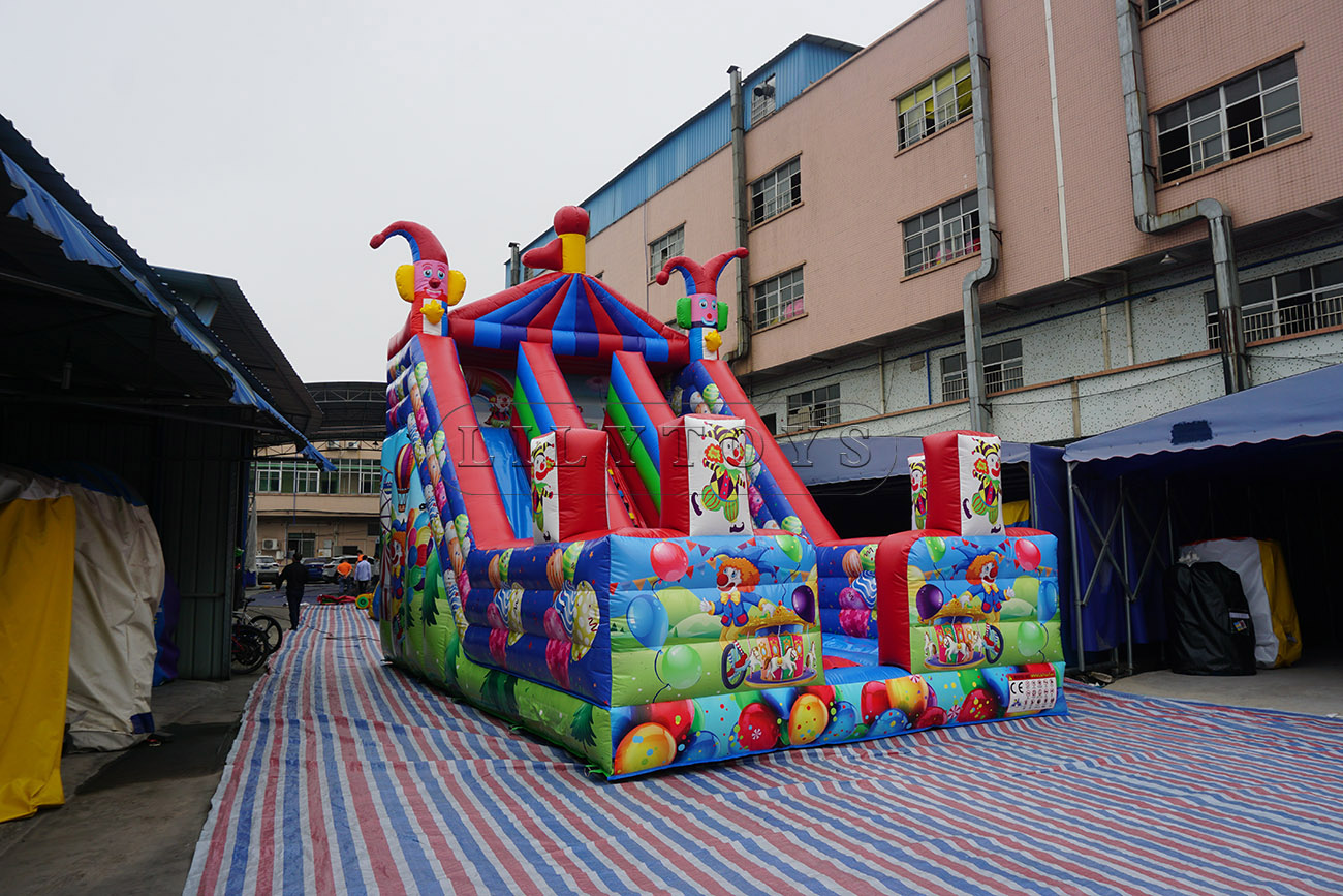 Colorful inflatable slide for kids