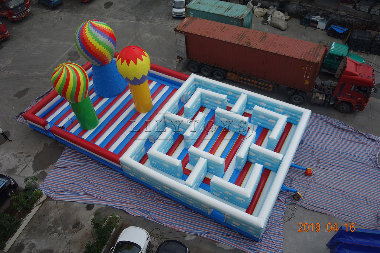 giant bounce house inflatable cloud airplane fun city