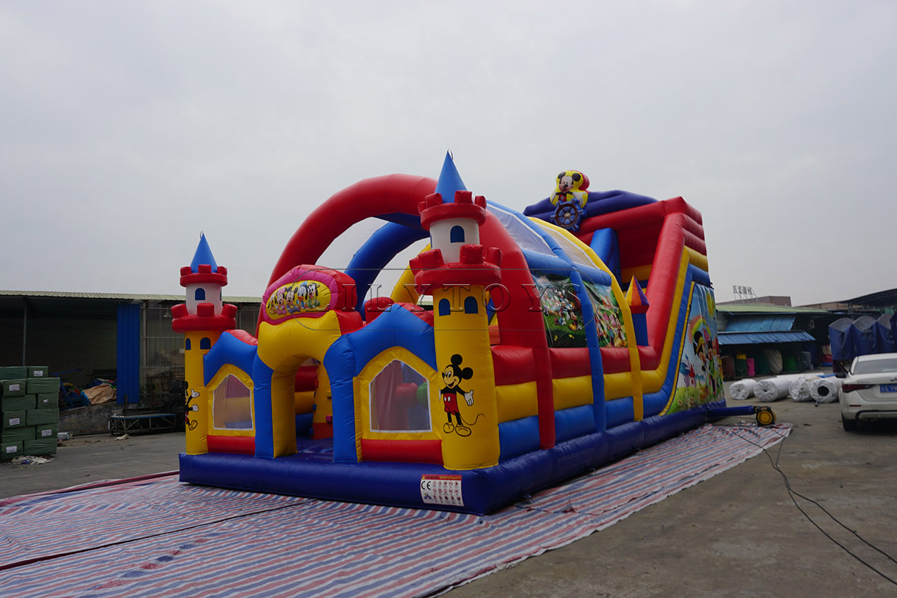 Inflatable Disney land sport park with tent for sale for kids